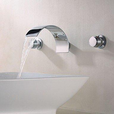 SUNNY KEY-Bathroom Sink Taps@Three contemporary wall mounted waterfalls 3 -wash basin mixer