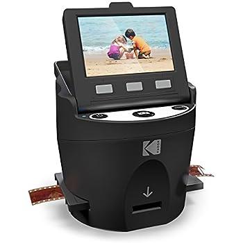 Kodak Digital Film Scanner, Converts 35mm, 126, 110, Super 8 and 8mm Film Negatives and Slides to JPEG Includes Large Tilt Up 3.5 LCD and EasyLoad Film Inserts