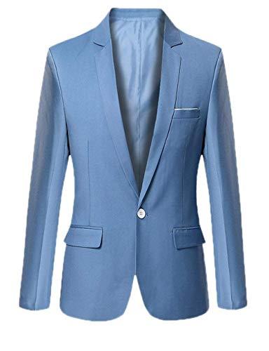 Longues Veste Pour Fashion Bouton D'affaires 1 Manches Hellblau Vêtements Loisirs Lannister Costume Hommes À 75RxwqHq