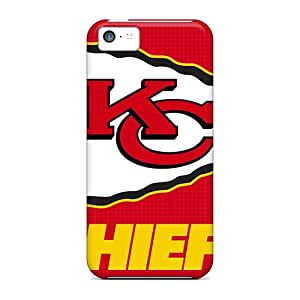 New Premium Flip Case Cover Kansas City Chiefs Skin Case For Iphone 5c