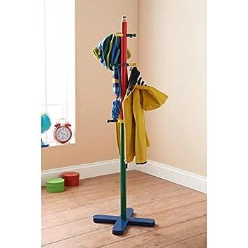 Salerno Perchero Infantil, Color Rojo, Azul y Verde