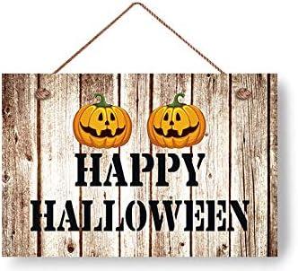 Door Sign Happy Halloween Gift Wooden Plaque