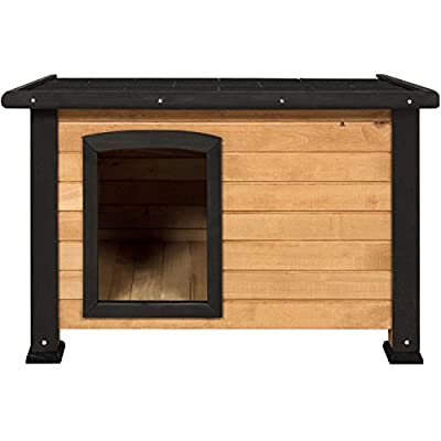 Best Choice Products Wooden Weather-Resistant Log Cabin Dog House w/Opening Roof for Small Dogs, Outdoor Kennel, Pet Shelter - Brown from Best Choice Products