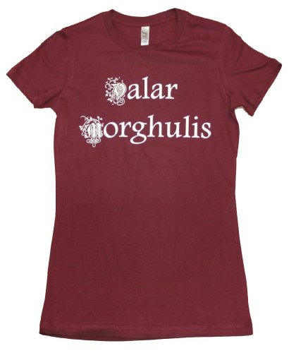 21 Century Clothing Women's Valar Morghulis Game of Thrones T - Shirt Medium (10-12 inches) Burgundy