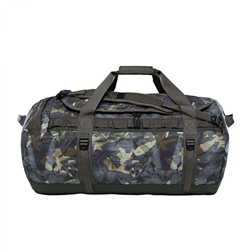 The North Face Base Camp Duffel Large English Green Tropical Camo New Taupe Green (Camo New Taupe)