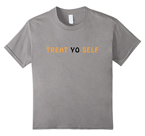 Kids Treat Yo Self Halloween Costume DIY Funny Ideas T-Shirt 12 Slate
