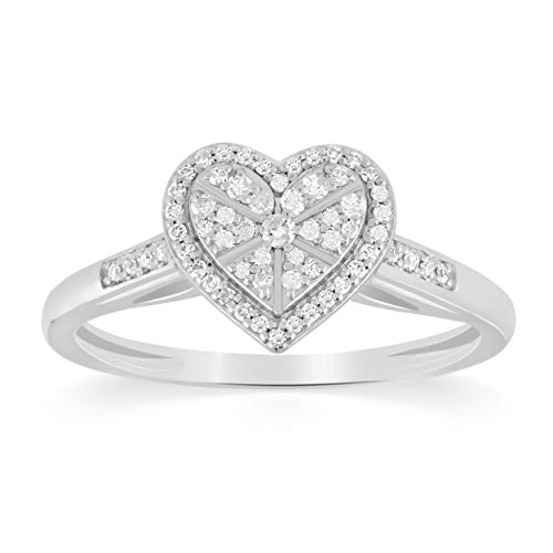 This diamond studded heart ring is everything! Crafted in sterling silver, it's just the right amount of romance!