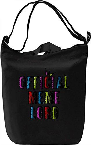 Official Meme Lord Borsa Giornaliera Canvas Canvas Day Bag| 100% Premium Cotton Canvas| DTG Printing|
