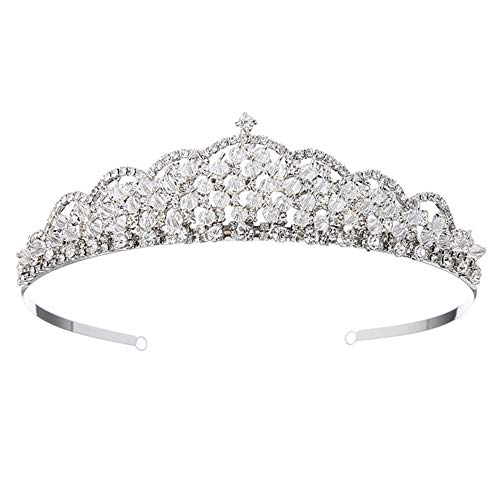 JUZEN A Large Number of Rhinestone Inlaid Plating Alloy Craft Fashion Luxury Queen Queen Crown Bride Wedding Tiara Crown, Beauty Dance Hair Accessories, Shining Stars