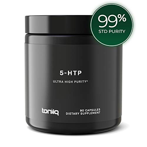 Ultra High Strength 5HTP Capsules - 99% Standardized Purity - 12:1 Concentrated Extract - The Highest Purity 5 HTP Available for Optimal Serotonin and Sleep Support - 200mg - 90 Veggie Capsules