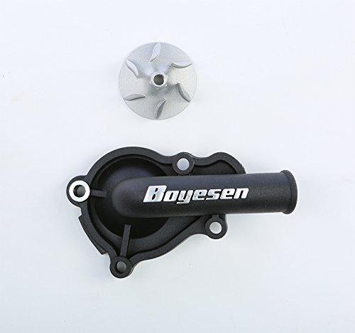 (Honda Hy-Flo Water Pump Cover and Impeller Kit / Supercooler Kit Boyesen CRF 450R 2002-2008 Offroad / Morocross Part# 59-8620 (Black))