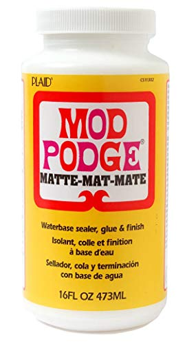 Mod Podge Waterbase Sealer, Glue and Finish (16-Ounce), CS11302 Matte Finish (Single pack) from Mod Podge