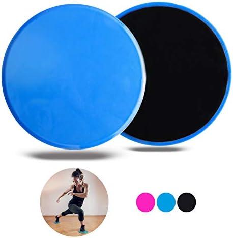 VELOVITA Core Sliders • 2er Set • doppelseitige Gleitscheiben • Gliding Discs für Holz- & Teppichböden • Gym & Home Workout Equipment • Fitness Pads für Ganzkörpertraining • by Yoga Retreat