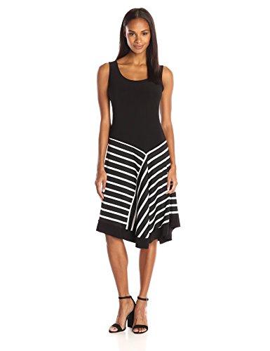 Womans Black White Striped Sundress: Amazon.com