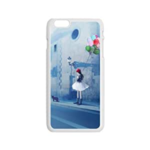 Print Creative Cartoon Girl waiting somebody Case For iphone 6 Plus Crystal Clear Cellphone Back Cover For Apple iphone 6 4.7''