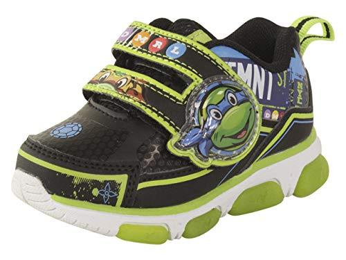 (Josmo Kids Baby Boy's Ninja Turtles Sneaker (Toddler/Little Kid) Black/Green 11 M US Little)