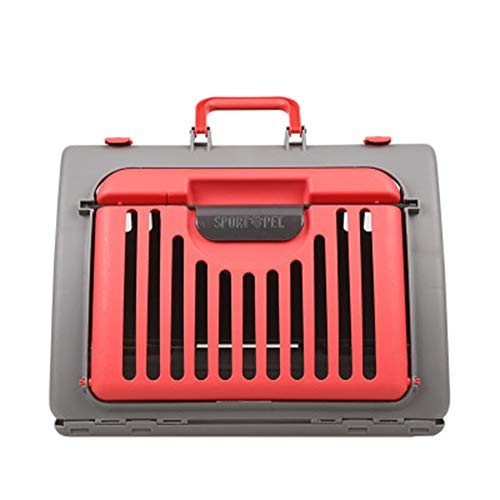 Le Yoyo Outing Handbag Convenient Breathable Car Pet Pack Foldable Cat Cage-red