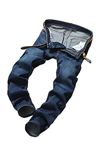 Gli Jeans I Casual Vepodrau Blu Pantaloni Scurocolor Uomini Elastico Di Subito Denim Vita In Liberi pHHxCTU