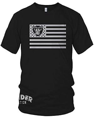 Raider Nation Black T-Shirt (Limited Edition) Skull Flag Edition