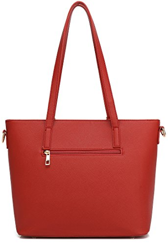 Wallet purpose Women Multi Bags Piece Set Bag Clutch Handbag Bag Gift Red 3 tvxv6qwO