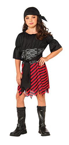 Rubie's Costume Kids Pirate Girl Value Costume, (Girls Pirate Dress Up)