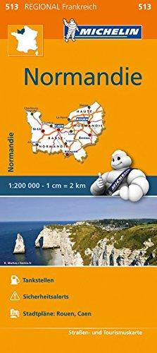 Michelin Normandie: Straßen- und Tourismuskarte