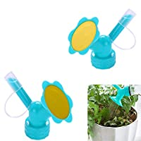 Guang-T Bottle Cap Sprinkler, 2In1 Mini Watering Can, Dual Head Bottle Watering Spout, Bottle Watering Spout Bonsai Watering Can for Indoor Seedlings Plant, Garden Tool (2 Pack)