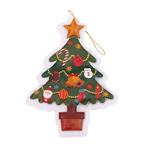 Midress Christmas Decoration 2 Pcs Colorful Changing Christmas LED Illuminated tag Home Room Xmas Party Pend Decorative Painting Living Room Wall Decoration (B) (Pend Outdoor)