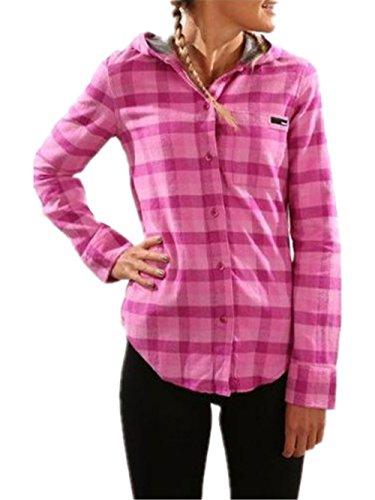 BESTHOO Jacket Con Capucha Mujer Coat Manga Larga Tops Cardigan Con Botones Abrigos Clasicos Jacket Hoodie Chaquetas Casuales Joven morado
