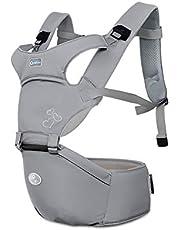 SONARIN Främre premium höftsits-bärare, multifunktionell, ergonomisk, 100 % bomull, fjärilsroterande spänne, 6 bärpositioner, säker och bekväm, anpassad till ditt barns växande