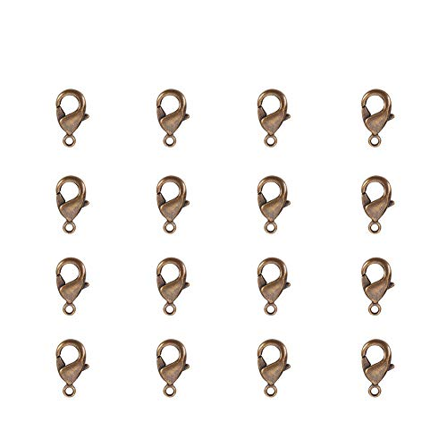 - PandaHall Elite Nickle Free Brass Lobster Claw Clasps Size 10x5x3mm for Jewelry Making Findings Value Pack 20pcs/bag Antique Bronze