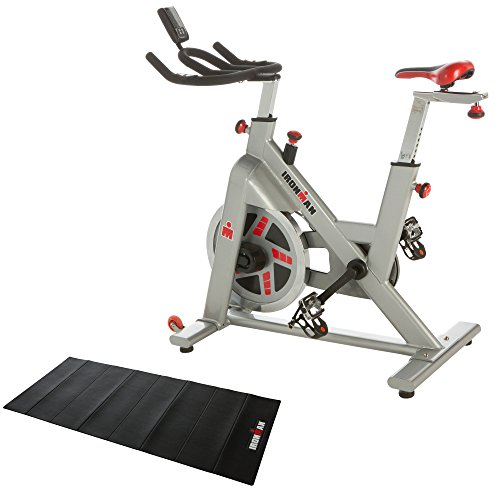 IRONMAN Fitness H-Class 510 Indoor Training Cycle with Digital Computer, Heart Rate System and BONUS Equipment Mat