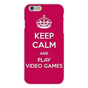 Apple iphone 6 plusd 5.5 Custom Case White Plastic Snap On - Keep Calm and Play Video Games