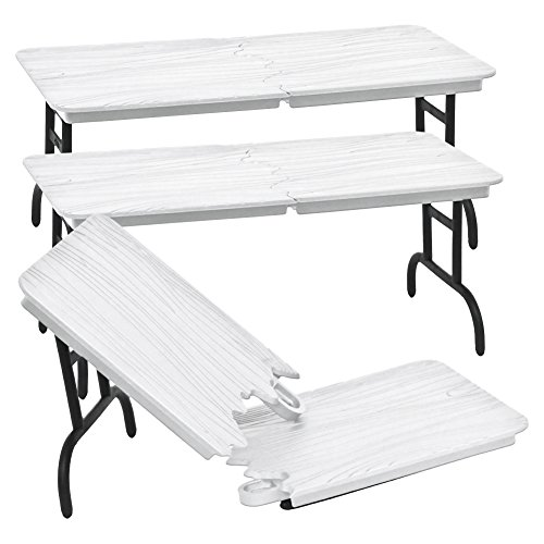 Set of 3 White Breakable Tables for WWE Jakks Mattel Wrestling Action Figures by Figures Toy Company