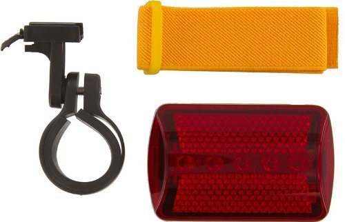 (SE - Safety Light - Flasher with Bicycle Attachment, Red, 6 Way - FL26RB10)