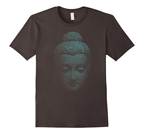 Mens Buddha T-Shirt Buddhist Gift Gautama Art Tee Buddhism Tshirt Large Asphalt