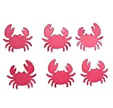 "Custom & Fancy {1.25"" x 1'' Inch} 100 Pieces of Large ""Table"" Party Confetti Made of Premium Card Stock w/ Beach Underwater Theme Nautical Animal Crab Shape Scatter Crafts Topper Design [Red]"