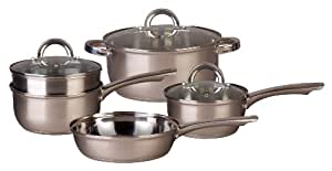 Oster 76883.08 Westmarch 8-Piece Cookware Set, Stainless Steel