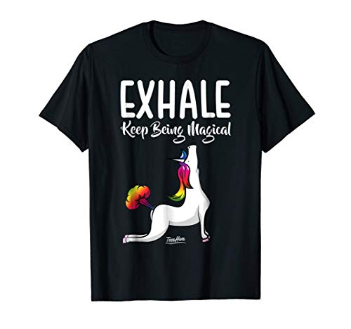 Unicorn Yoga Unicorn Farting Funny Unicorn Exhale T Shirt