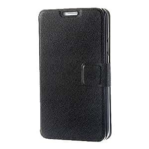 HC-Seda Patrón Imprimir PU Leather Case cuerpo completo con soporte para Samsung Galaxy i9600 S5 , Azul claro