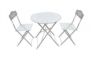 Alpine Metal Bistro Set con 2-chairs