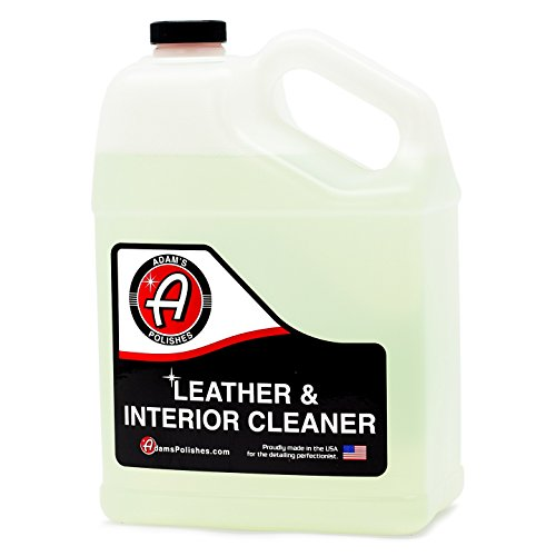 Adam's Leather & Interior Cleaner – Safely Deep Cleans All Leather Vinyl and Plastic Interior Surfaces – Gentle on Your Interior, Tough on Dirt (1 Gallon)