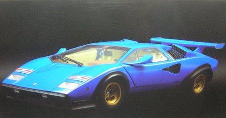 1/18 ランボルギーニ カウンタック LP500S WW(ブルー)イラスト付 K08323BLL