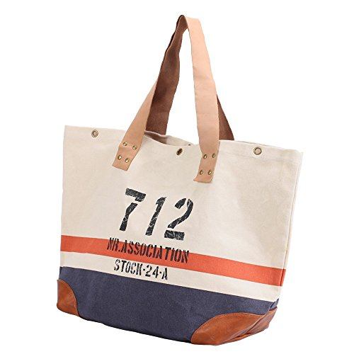 Casual everyday Bag for Capacity Stitching Large use Handbag Retro Asdflina Rivet Capacity Suitable Canvas Large Commuter Dumplings qExCTEZwf