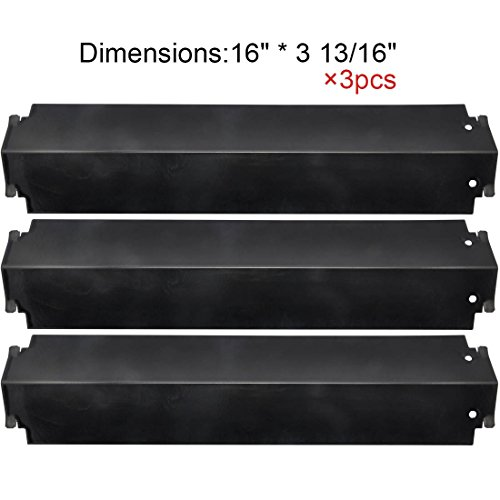 Barbeque Replacement Gas Grill Porcelain Steel Heat Plate, heat Shield, heat Tent, heat Diffuser Deflector for Charbroil, Kenmore Sears 463268107, Thermos 461262006, Lowes Model Grills, (3-pack)