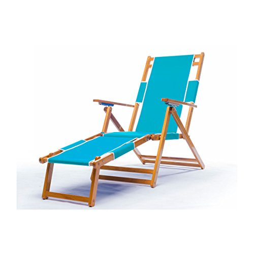 Frankford Umbrella (Heavy Duty Commercial Grade Oak Wood Beach Chair / Chaise Lounger)