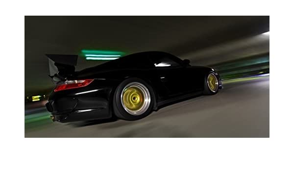 Amazon.com: Porsche 911 GT3 RS Right Side Motion BBS Wheels HD Poster 24 X 12 Inch Print: Posters & Prints