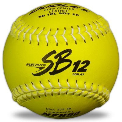 Dudley NFHS SB 12L Fast Pitch Softball - White Stitching - 12 pack ()