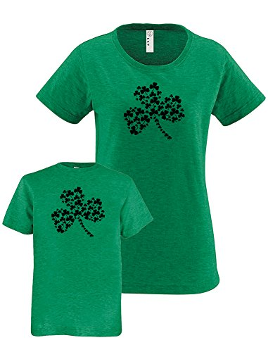 Sunshine Mountain Tees ST. Patrick's Day Matching Shamrocks Mom Daughter Shirts XXL&L Heather - Fashion Matchy Matchy