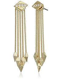 Noir Jewelry Assassin Gold Drop Earrings